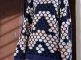 Z311欧洲站2015早春女装CH家杂志走秀羊绒特定面料波点图案