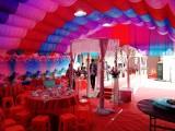 豪斯大型户外活动充气帐篷红白喜事帐篷流动餐厅婚宴酒席充气帐篷