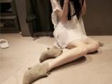 2013韩国partysu同款磨砂牛皮方头短靴中粗跟马丁真皮靴子
