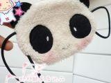 原创超萌熊猫大眼兔豆豆兔防尘保暖耳挂式口罩 儿童面罩