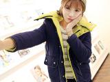 韩国东大门冬装新款韩版羽绒棉加厚大码女装外套带帽正反两穿棉衣