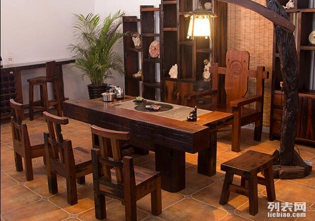 中山直销老船木家具办公桌 餐桌 茶几