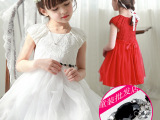 爆款女童连衣裙短袖白色一件代发儿童公主裙宝宝蕾丝网纱工厂批发