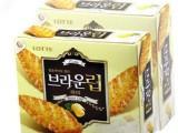 1409韩国进口食品批发 韩国饼干乐天蜂蜜树叶饼干90g 16盒