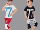 厂家批发夏款韩版童装儿童复古T恤 陕西西安纯棉男童夏装批发