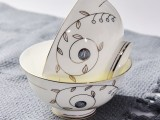 唐山达美瓷业批发骨质瓷米饭碗 家用防烫手粥碗定制礼品餐具
