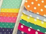 彩色 亮丽 大小圆 点点 新款时尚 全棉活性印花服装裤子面料