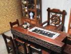 云浮老船木家具实木茶桌椅组合功夫茶台简约中式仿古茶艺桌
