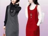2013秋冬新款女装韩版OL修身大码无袖背心裙马甲裙羊毛呢连衣裙
