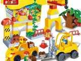 兼容乐高 邦宝大颗粒 益智玩具拼插积木 工程系列 游乐园建设96