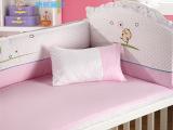 婴儿床床围 纯棉可拆洗婴儿床品套件 厂家货源婴童家纺五件套批发