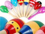 木制沙球 中号沙锤 奥尔夫乐器 幼儿园音乐教具 宝宝早教玩具