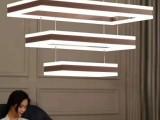 现代简约吊灯灯饰 餐厅灯 客厅灯批发采购价格铝材亚克力咖啡色