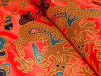 云锦金黄色大红大龙旗袍面料唐装布料高档包装面料织锦缎布料丝绸