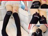 儿童假高筒连裤袜 女童春夏款防勾丝肤色拼接丝袜 假过膝打底袜子