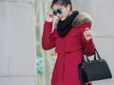 实拍2014冬季新款加绒加厚中长款休闲大毛领棉衣棉服好质量