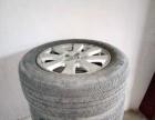 米其林轮胎四只带钢圈