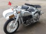 长江款750边三轮摩托车 白色蓝条纹