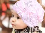 韩版婴儿童女宝宝帽子蕾丝花朵 春秋帽公主