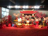 出租租赁春节主题玻璃钢鼠卡通雕塑鼠年雕塑