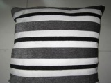 红99垫子坊雪尼尔时尚彩条沙发靠垫抱枕黑