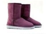 厂家批发5825雪地靴中靴牛皮真皮牛筋底女靴保暖雪地鞋代发货