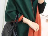 秋冬新款披肩围巾两用张雨绮同款混纺保暖尼泊尔羊毛加厚 披肩