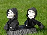 万圣节整蛊双人鬼玩具 整蛊玩具 按控感应整蛊双人鬼骷髅玩具