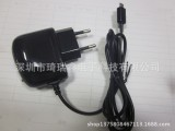 欧规手机充电器,带线直充,5V1A直充充电头,厂家批发直销