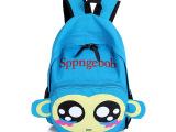 小猴儿童背包幼儿园小学生双肩包韩版帆布印花超萌可爱卡通书包