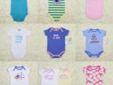 男女童婴童外贸原单短袖信封领三角爬服哈衣1