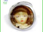 韩国 时尚芭比娃娃促销 卡通折叠化妆镜 LF-04
