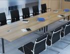 重庆公家具实物拍照会议桌时尚简约现代4人位电脑桌椅厂家足销