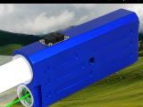 C87B蓝色手电筒强光LED灯珠户外照明绿色激光瞄准指星充电双开
