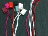 厂家供货 通用服装现货吊粒/烫金吊粒/吊粒线/吊牌穿绳/子母扣