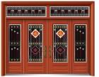 河南全新门业QX-6448仿红铜四开子母门