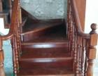湖北武汉福森实木楼梯厂供应实木整梯单梁梯钢木楼梯