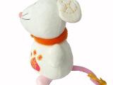 毛绒玩具厂家定制卡通老鼠毛绒公仔  订做企业吉祥物毛绒玩具