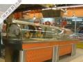 组合式不锈钢熟食展柜,凉菜柜,加热柜,拐角柜
