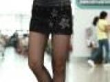 韩版女装2013秋装新款镶钻中腰显瘦修身提臀女pu皮裤皮短裙