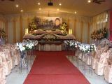 乐山白事灵堂,追悼会布置,丧葬车一条龙服务,殡仪策划,寿衣全