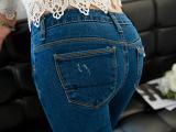 艾依纺2014秋季弹力铅笔裤 热卖韩国破洞修身显瘦牛仔裤 小脚裤