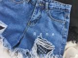佛山哪里有厂家直销批发时尚精品九分牛仔裤高腰直筒牛仔裤批发