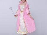 秋冬迪士尼公主女童公主裙 儿童六一表演服生日派对服 女童连衣裙