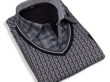 厂家直销 2013款衬衫领不倒绒保暖内衣 男士纯棉保暖内衣
