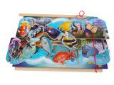 儿童益智木制玩具 磁性小猫钓鱼钓钓乐亲子互动游戏玩具批发