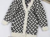 2015 品牌女童装秋装新款长袖韩版针织毛衣开衫外套 厂家直销