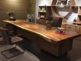 胡桃木原木办公室家具,帮您设计搭配