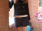 欧美风秋季冬季新款女装上衣爆款羊毛呢子大衣大毛领短款风衣外套