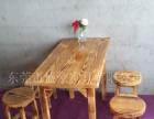 厂家直销火焰鹅餐厅桌椅,农庄桌椅,醉鹅餐厅桌椅,碳化防腐木